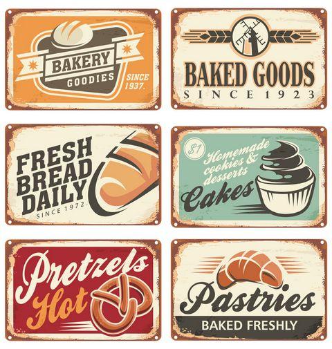 复古面包海报图片