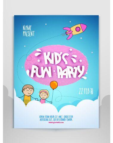 卡通儿童节海报设计图片