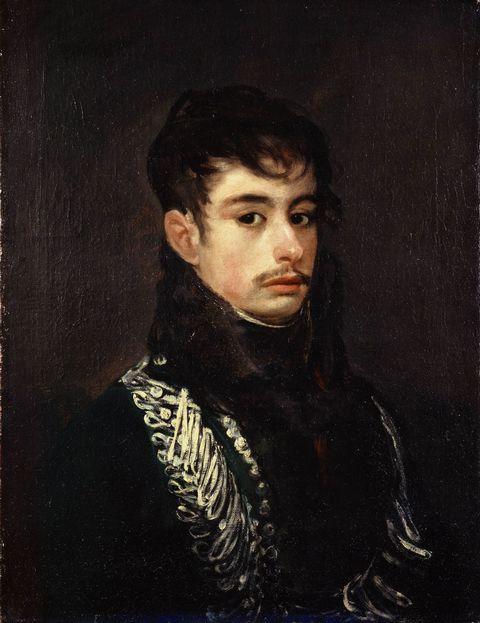 黑衣贵族男人油画图片