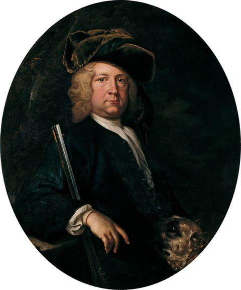 贵族男人油画图片