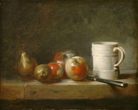 杯子和水果图片