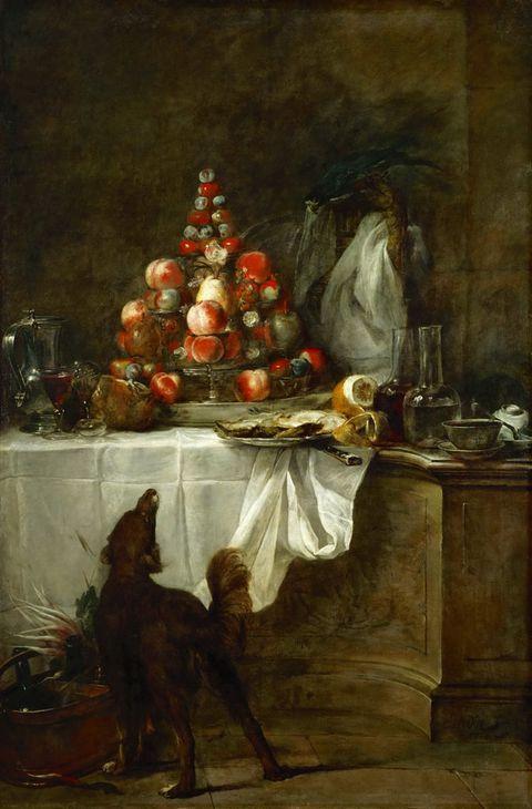 大狗和水果图片
