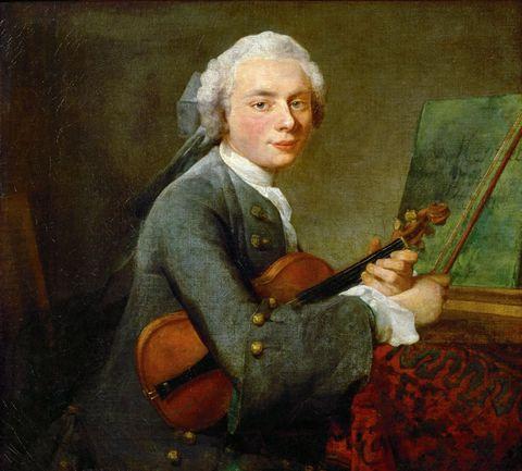 拉小提琴的男子图片