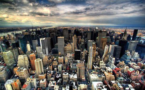 鸟瞰纽约风景壁纸