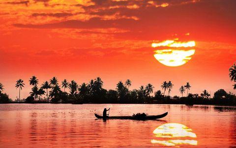 大海夕阳风景壁纸