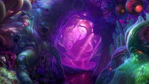 卡通洞穴风景壁纸