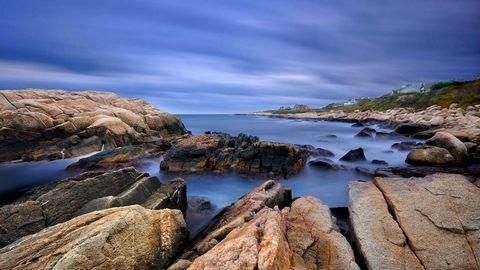 海岸岩石风景壁纸