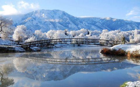 冬天小河风景壁纸
