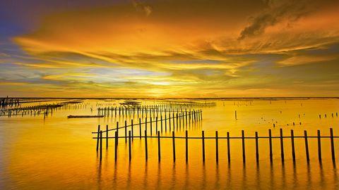 黄昏大海风景壁纸