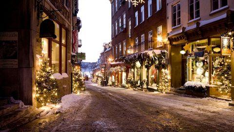 圣诞节街道风景壁纸