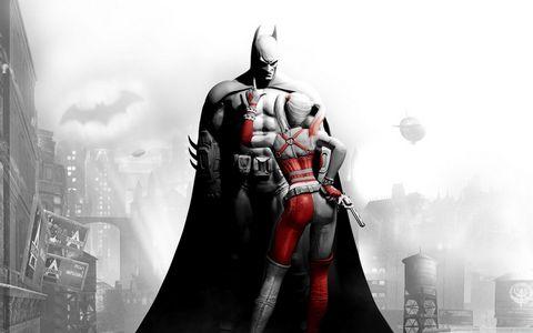 蝙蝠侠与小丑女壁纸