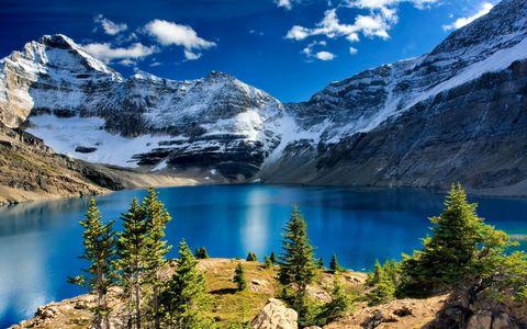 雪山湖泊风景壁纸