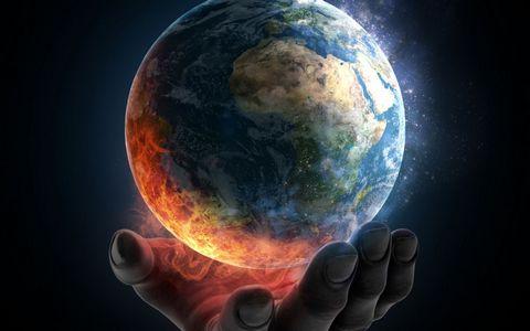 手捧着的地球