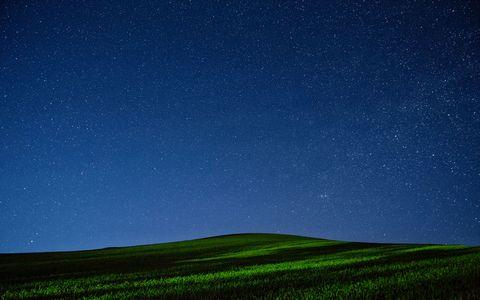 星空草原风景壁纸