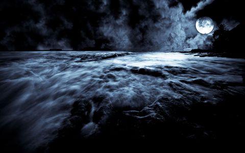 大海月夜风景壁纸