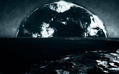 星球与大海风景壁纸