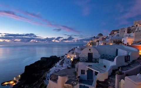 希腊海岸风景壁纸