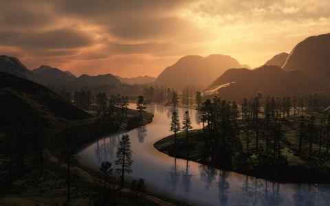 美丽小河风景壁纸