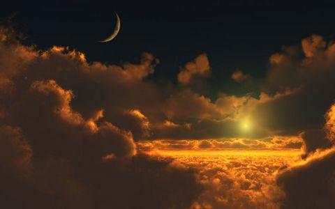 夜晚云层风景壁纸