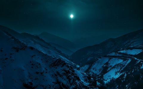 雪山夜空风景壁纸