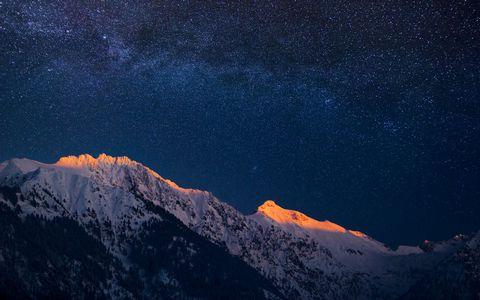 雪山星空风景壁纸