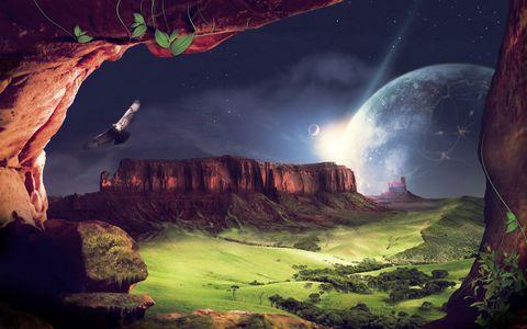 洞穴星空风景壁纸