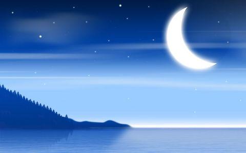 卡通夜晚风景壁纸