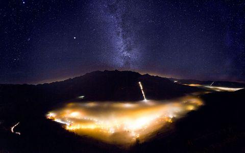 美丽夜空风景壁纸