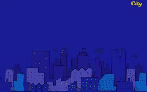 卡通城市漫画壁纸
