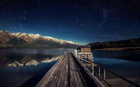湖泊星空风景壁纸