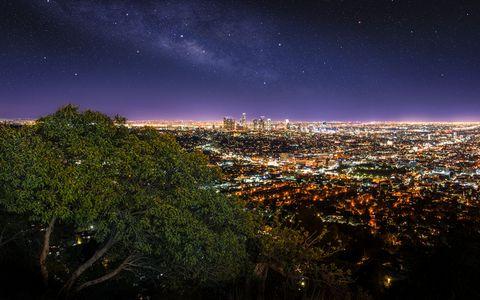 城市星空风景壁纸