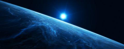 阳光与地球表面