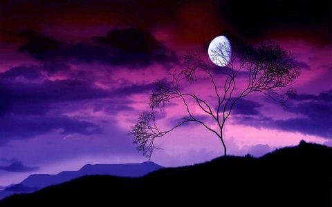 美丽傍晚彩霞风景
