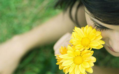 鲜花与美女