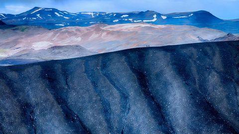 美丽荒漠山脉风景