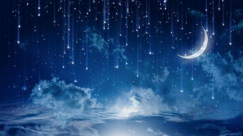 月亮与流星雨