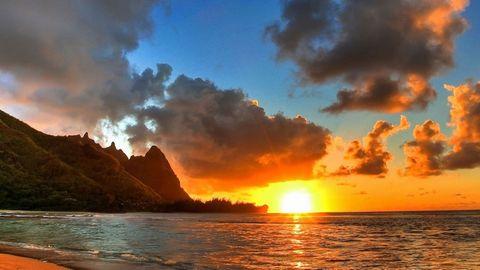 美丽大海夕阳风景
