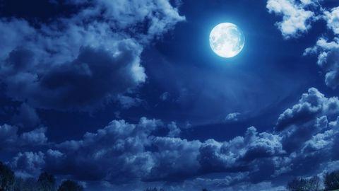美丽月夜风景