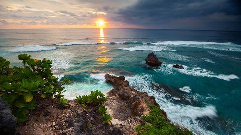 大海夕阳风景