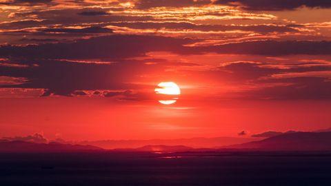 黄昏夕阳风景