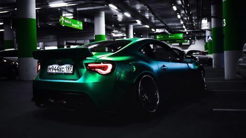 绿色跑车高清图片图片