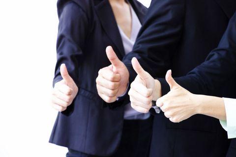 三个大拇指商务团队图片