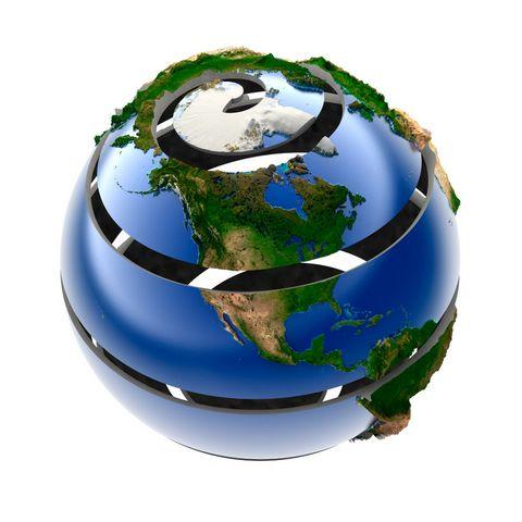 蓝色地球摄影图片