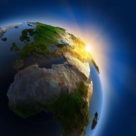地球上的日出摄影图片