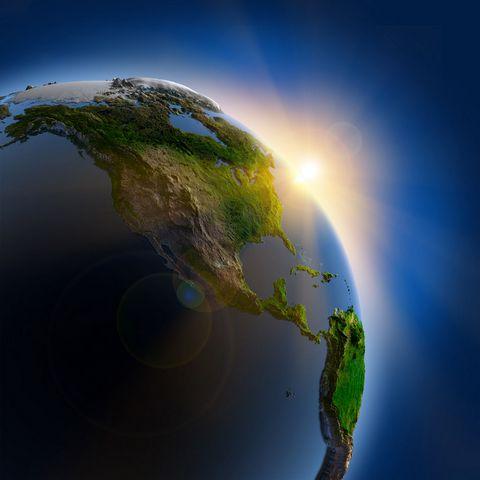 地球与太阳高清摄影图片