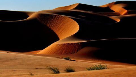 壮观的沙漠地貌