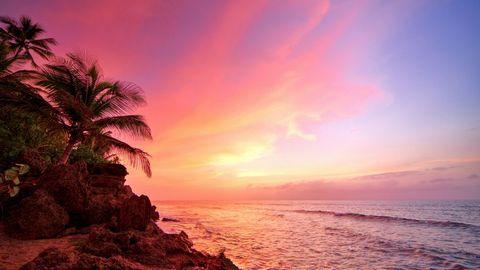 海洋彩霞美景壁纸
