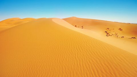 金色沙漠美景