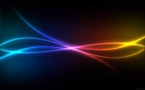 彩色梦幻条纹背景