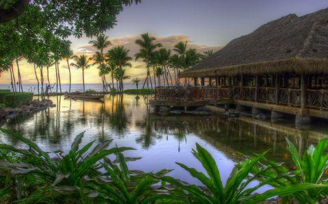 热带海洋与度假村风景